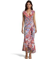 Robert Graham Sophia Paisley Mixed Print Dress - Multicolor