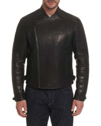 Robert Graham - Spartanburg Leather Biker Jacket - Lyst
