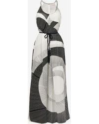 Robert Graham Daphne Halter Maxi Dress - Black
