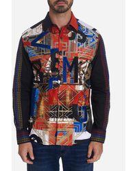 Robert Graham Men's Limited Edition Jomaduru Graphic Sport Shirt - Blue