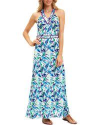 Robert Graham Krista Sleeveless Dress - Blue