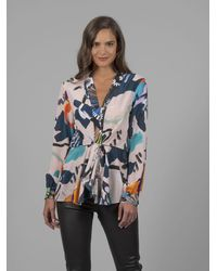 Robert Graham - Lacey In Paradise Printed Silk Blouse - Lyst
