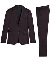 Roberto Cavalli Dreiteiliger Anzug in Burgunderrot - Pink