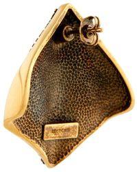 Roberto Cavalli Schlangenschuppen-Ohrringe mit Nieten - Mehrfarbig