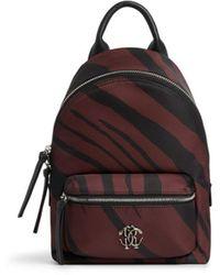 Roberto Cavalli Mini Zebra Print Backpack - Black