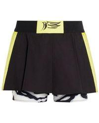 Roberto Cavalli Shorts mit kontrastierendem Overlay - Schwarz
