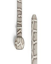 Roberto Cavalli Python Skin Belt - Mettallic