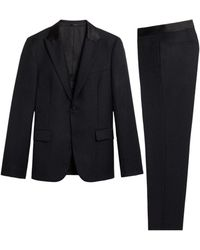 Roberto Cavalli Tiger Twiga Jacquard Two Piece Suit - Black