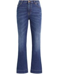 Roberto Cavalli Cropped Flared Jeans - Blue