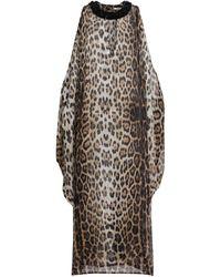 Roberto Cavalli Kaftankleid mit verziertem Kragen - Mehrfarbig