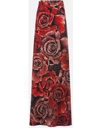 Roberto Cavalli Just Cavalli Rose-Print Maxi Skirt - Rot