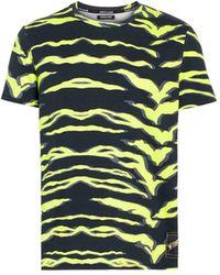 Roberto Cavalli T-Shirt mit Zebra-Print - Schwarz