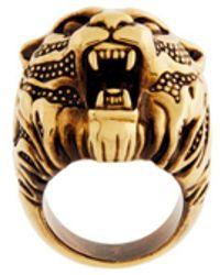 Roberto Cavalli Tiger Head Ring - Metallic