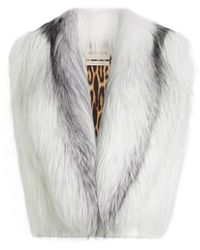 Roberto Cavalli Weste aus marmoriertem fuchspelz - Weiß