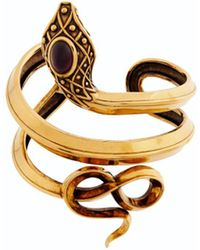 Roberto Cavalli Snake Arm Cuff - Metallic