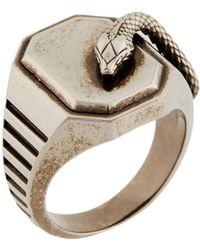 Roberto Cavalli Snake Signet Ring - Metallic