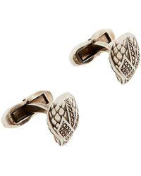 Roberto Cavalli Snake Head Cufflinks - Metallic