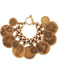 Roberto Cavalli Hammered Lucky Coin Bracelet