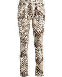Roberto Cavalli Python Print Jeans - Multicolour