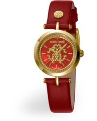 Roberto Cavalli Armbanduhr mit Logo - Rot