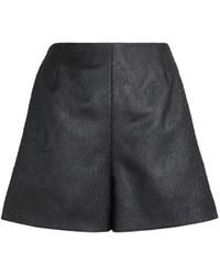 Roberto Cavalli Snakeskin Effect Shorts - Black