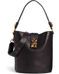 Roberto Cavalli Padlock-embellished Bucket Bag - Black