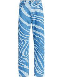 Roberto Cavalli E Jeans mit lockerer Passform - Blau