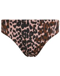 Roberto Cavalli Double Leo Print Swim Briefs - Brown