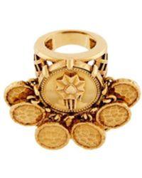 Roberto Cavalli Coin Embellished Hand Ring - Metallic