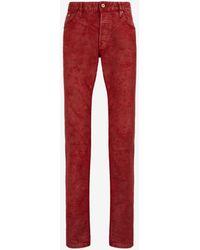 Roberto Cavalli Just cavalli waxed-denim jeans - Rot