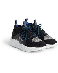 Roberto Cavalli Sneakers mit mesh-einsatz und logo - Schwarz