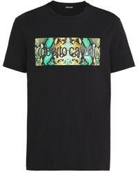 Roberto Cavalli Logo Print T-shirt - Black