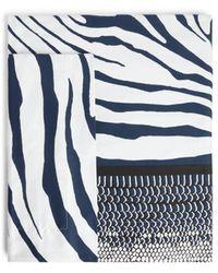 Roberto Cavalli Zebra And Python Print King Duvet Cover Set - Blue