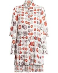 Roberto Cavalli - Hemdkleid mit Münz-Print - Lyst