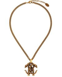 Roberto Cavalli Collar Mirror Snake - Metallic
