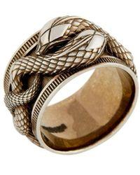 Roberto Cavalli Ring mit Schlangenmotiv - Mettallic