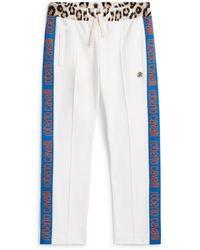 Roberto Cavalli Side Stripe Tracksuit Trousers - White