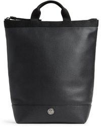 Roberto Cavalli Convertible Leather Backpack - Black