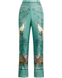 Roberto Cavalli Hybrid Animals Printed Pants - Green