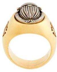 Roberto Cavalli Beetle Chevalier Ring - Metallic