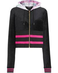 Roberto Cavalli Velvet Track Jacket - Black