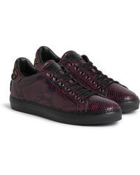 df160e3fb Gucci Velvet Sneaker With Dragon Embroidery in Red for Men - Lyst