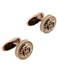 Roberto Cavalli Rc Monogram Coin Cufflinks - Metallic
