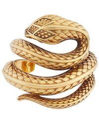 Roberto Cavalli Snake Cuff - Metallic