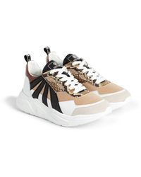 Roberto Cavalli Sneakers mit Kontrasteinsätzen - Braun