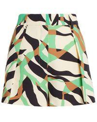Roberto Cavalli Macro Tiger Twiga Print Shorts - Multicolor