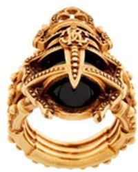 Roberto Cavalli Scarab Beetle Ring - Metallic