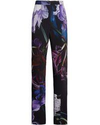 Roberto Cavalli Marchito Print Straight Leg Trousers - Black