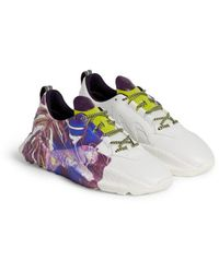 Roberto Cavalli V1per sneakers mit camoshot print - Weiß