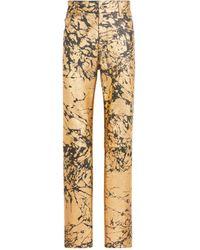 Roberto Cavalli Jeans in goldfarbener Cracked-Optik - Mettallic